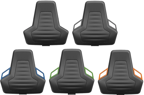 Industriestoel Bimos Nexxit 1 met glijders universeel inzetbaar - Geen Armleggers - Groen Handgrepen-2