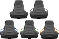 Industriestoel Bimos Nexxit 1 met glijders universeel inzetbaar - Standaard Armleggers - Oranje Handgrepen-2