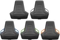 Industriestoel Bimos Nexxit 3 met glijders universeel inzetbaar - Geen Armleggers - Oranje Handgrepen - Standaard Vloerglijders-2