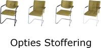 Bezoekersstoel Huislijn Alfa hoge rug Zwart Padding gestoffeerd-3
