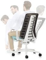 Bureaustoel Interstuhl Pure met 3D zitbeweging PU113  zwart / antraciet-3