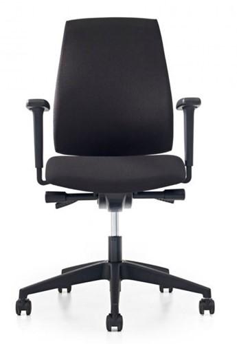 Bureaustoel Pro-Basic - Lucia Zwart (5800) gestoffeerd-2