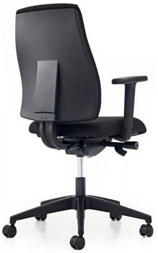 Bureaustoel Pro-Basic - Lucia Zwart (5800) gestoffeerd-3