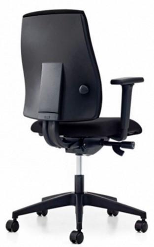Bureaustoel Pro-Ergo - Lucia Zwart (5800) gestoffeerd-3