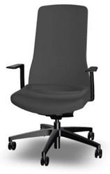 Bureaustoel Interstuhl Pure met 3D zitbeweging PU113  zwart / zwart - Multifunctionele Wielen