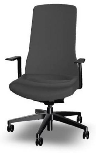 Bureaustoel Interstuhl Pure met 3D zitbeweging PU113  zwart / zwart