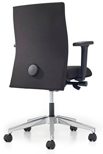 Bureaustoel Pro - Lucia Zwart (5800) gestoffeerd-3
