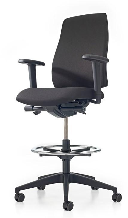 Rubberen Bureaustoel Wieltjes.Bureaustoel Pro Basic Counter Lucia Zwart 5800 Gestoffeerd
