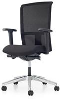 Bureaustoel Pro - Lucia Zwart (5800) - Met rug in netbespanning