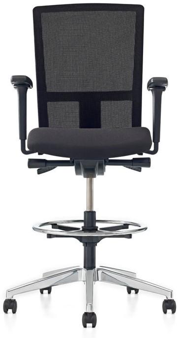 Bureaustoel Met Rubberen Wielen.Bureaustoel Pro Net Counter Lucia Zwart 5800 Gestoffeerd