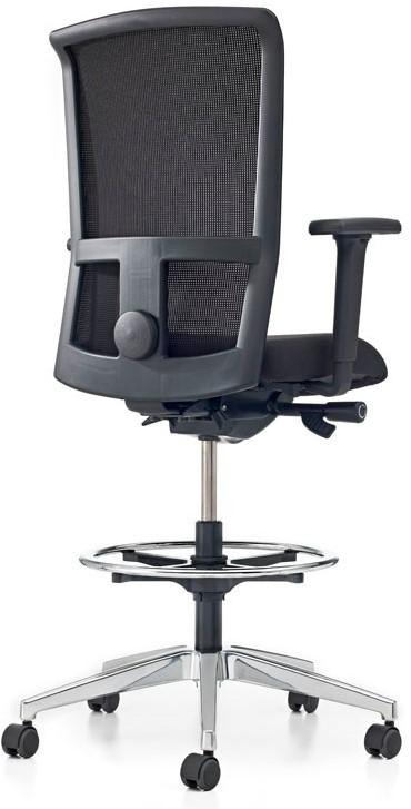 Rubberen Bureaustoel Wieltjes.Bureaustoel Pro Net Counter Lucia Zwart 5800 Gestoffeerd