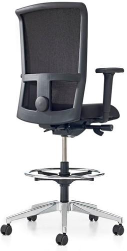 Bureaustoel Pro-Net Counter - Lucia Zwart (5800) gestoffeerd - Rubber Wielen-3