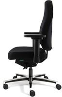 Bureaustoel Bio Seat X met drukverlagende zitting en instelbaar mechaniek, Stof Mirage Zwart-3