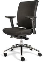 Bureaustoel Van Hilten Edition Basic met Comfort Zitting en Rugleuning zwart - Oasis Zwart (9111)