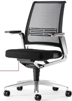 Bureaustoel Interstuhl Vintage 17V7 met zwartgrijze stof en netbespanning