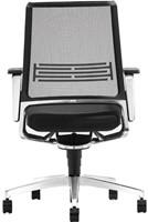 Bureaustoel Interstuhl Vintage 17V7 met zwartgrijze stof en netbespanning-2