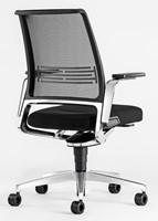 Bureaustoel Interstuhl Vintage 17V7 met zwartgrijze stof en netbespanning-3