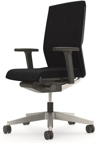 Bureaustoel Interstuhl Yos Enjoy 160YN zwart / zilver - Multifunctionele Wielen