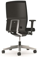 Bureaustoel Interstuhl Yos Enjoy 160YN zwart / zilver - Multifunctionele Wielen-3