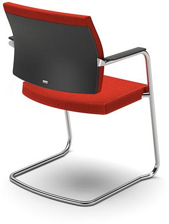 Bezoekersstoel Interstuhl Yoster 550Y - Lucia Zwart (5800)-3