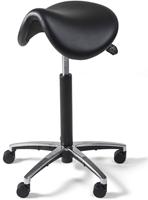 Zadelkruk van Hilten PVC met aluminium voetkruis zwart-1